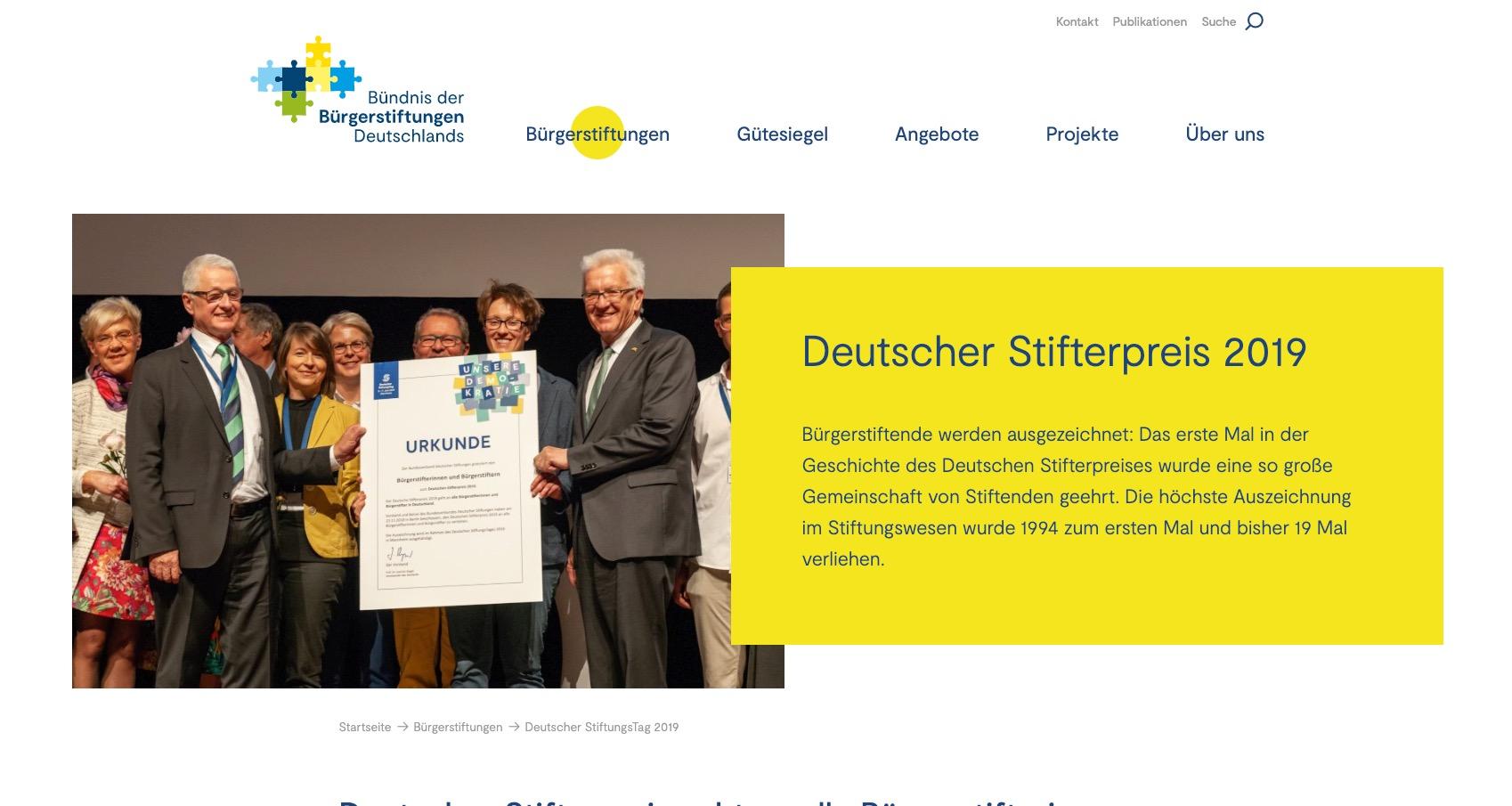 Bürgerstiftung In Der Glockenstadt Gescher Erhält Deutschen Stifterpreis